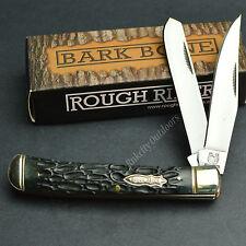 ROUGH RIDER 440 Stainless Bark Bone Trapper Folding Pocket Knife RR1384 New!