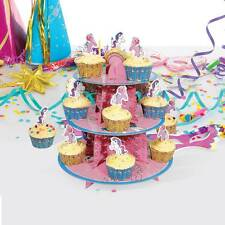 RETRO 'MY LITTLE PONY' CUPCAKE STAND 3 TIER CARDBOARD STAND PARTY OFFICIAL