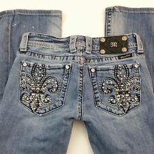 Miss Me Womens Boot Cut Jeans Distressed Destroyed Size 27 Boot Cut Bling