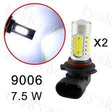 2X Car  LED Project 9006 HB4 7.5W White Fog Driving Light Bulbs Lamp Accessory