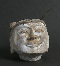 Superb antique carved wooden Myanmar Burmese puppet head. Burma