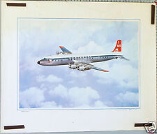 AFFICHE ANCIENNE AVION NORTHWEST AIRLINE DOUGLAS DC-7C