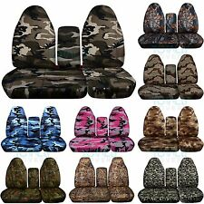 1996-2003 Ford F-150 F-Series 60/40 High Back Camo Truck Seat Covers w Console