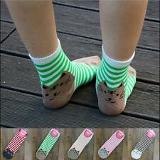 Green Cat Stripe Mens Womens Ankle Socks Sports Casual Cotton Socks Bed Socks