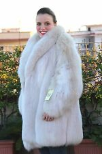 SILBERFUCHS WHITE SHADOW FOX COAT FOURRURE SILBER FUCHS RENARD MEX