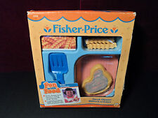VINTAGE NEW 1987 FISHER PRICE FUN WITH FOOD MAGIC STEAK FRIES DINNER SPATULA