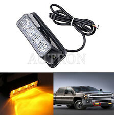 1x4LED Work Vehicle Grill Strobe Emergency Warning Side lamp net light Amber 12V