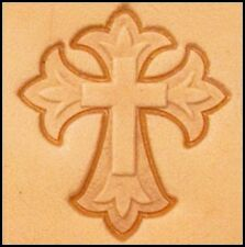 3D MEDIEVAL CROSS LEATHER STAMP 861400 Tandy Stamping Tool Craftool Stamps Tools