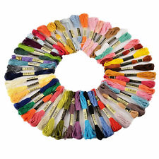 50x Cotton Mix Colors Embroidery Cross Stitch Sewing Skeins Floss Thread Kit