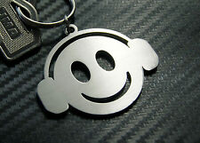 HAPPY DJ Disc Jockey MC Funk House Garage Music Disco Decks Keyring Keychain Key