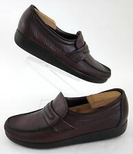 SAS 'Alamo' Mens Slip On Loafers Burgundy Leather Sz 9S Slim