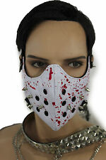 New Men Face Mask Mouth Muzzle Costume White Halloween Hannibal Blood Spikes S&M