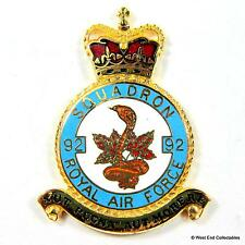 RAF 92 Squadron DANBURY MINT Blank Badge -24ct Gold Detail 1970s Royal Air Force
