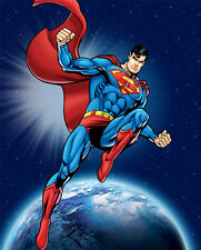 Superman In Space Anti-Pill Fleece Fabric Panel By Warner Bros