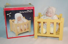 ARTMARK NAP TIME MOVING MUSICAL DOLL IN WOOD PLAY PEN, #80328, WORKS