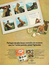 "Publicité Advertising 1972  AGFA GEVAERT Agfacolor ""cartes postales photo"""