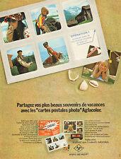 """Publicité Advertising 1972  AGFA GEVAERT Agfacolor """"cartes postales photo"""""""