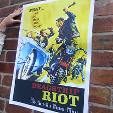 Dragstrip Riot vintage film poster car 50's rock & roll rebel poster-A4