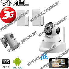 3G Wireless Security Camera GSM House Alarm System PIR Remote Monitoring phone