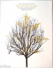 MARK KOZELEK- ORIGINAL Signed/Numbered 2006 TOUR POSTER, Jason Munn, tree, leaf