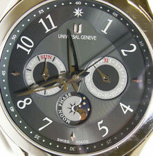 Universal Geneve Okeanos Moon Timer Automatic Day Date Moon Phase Swiss 871.104