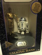 NIB 1995 Star Wars R2-D2/C-3PO Electronic Talking Bank with Lights & Sounds