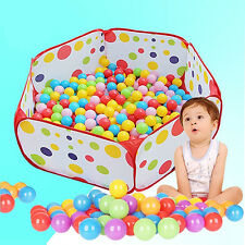 100Pcs Colorful Fun Balls + Play Tent Baby Kids Swimming Pool Pit Toy Natural