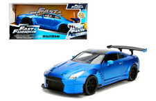 JADA 1/24 SCALE FAST AND FURIOUS 2009 NISSAN GT-R R35 BEN SOPRA BLUE 98271