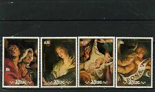 NIUE 1988  Sc#564-567 CHRISTMAS PAINTINGS SET OF 4 STAMPS MNH