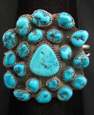 Vintage Old Pawn Navajo Silver and Turquoise Bracelet/Cuff Native American *896