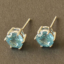HOT SALE White Gold Filled Sky blue sapphire Crystal Ladies Stud Earrings F6054