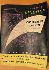 Original 1952-1955 Lincoln Chassis Parts Catalog Final Edition