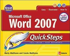 Microsoft Office Word 2007 QuickSteps (How to Do Everything)-ExLibrary