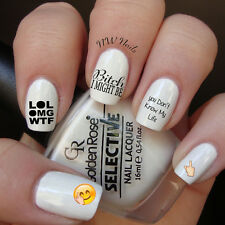 Meme Emoji Tumblr Instagram Quotes Funny Nail Art Waterslide Decals