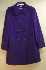 New Planet Double Breasted Wool Cashmere Blend $499 Coat 016368 /Purple /16US