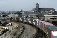 CIE Container train leaving North Wall Yard Dublin Eire Rail Photo