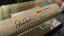Tampa Bay Rays Evan Longoria autographed baseball bat in glass display case. A+