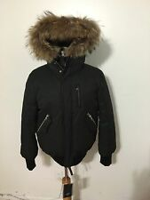 NWT Men's MACKAGE Dixon Fur Trim Down Parka, Size 42, Large, Black