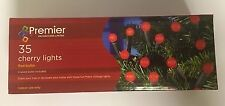 PREMIER 35 / 100 CHERRY CHRISTMAS LIGHTS MULTI COLOURED & RED XMAS TREE LIGHTING