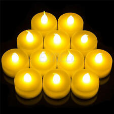 12PCS FLAMELESS CANDLES FLICKERING LED TEA LIGHT CANDLES BATTERY TEALIGHTS