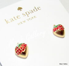 Kate Spade Handbag Earrings Earring post strawberry outside the box NWT KSNY