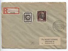 Lokalausgabe Löbau 20 mit ZF auf R-Orts-Brief Dresden  (B05068)