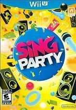 Sing Party USED SEALED (Nintendo Wii U, 2012)
