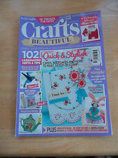 CRAFTS BEAUTIFUL MAGAZINE # 266 MAY 2014 * CARDMAKING TIPS PUNCH ART DECOUPAGE