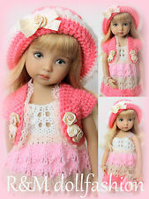 "R&M DOLLFASHION-OOAK ROMANTIC LINE outfit set for LITTLE DARLING EFFNER 13"" doll"
