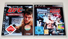 2 PLAYSTATION 3 SPIELE SET - UFC UNDISPUTED 2009 & SMACKDOWN VS RAW 2011 ECW