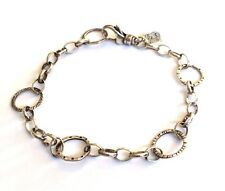 "Silpada Sterling Silver ""Linked Charm"" Oxidized 8.5"" Long Bracelet - B2469"