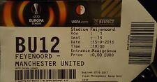 TICKET UEL 2016/17 Feyenoord vs Manchester United