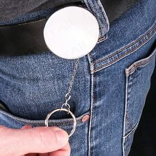HIGH QUALITY CHROME RECOIL PULL KEY CHAIN KEYRING Extendable/Retracting Yoyo