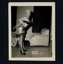 BUSTY BLOND DONNA BROWN IN UNDERWEAR LINGERIE UNTERWÄSCHE * Vintage 60s US Photo